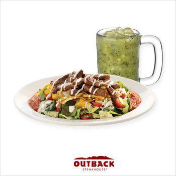 캘리포니아 스테이크 샐러드, 신선한 과일 에이드 1잔